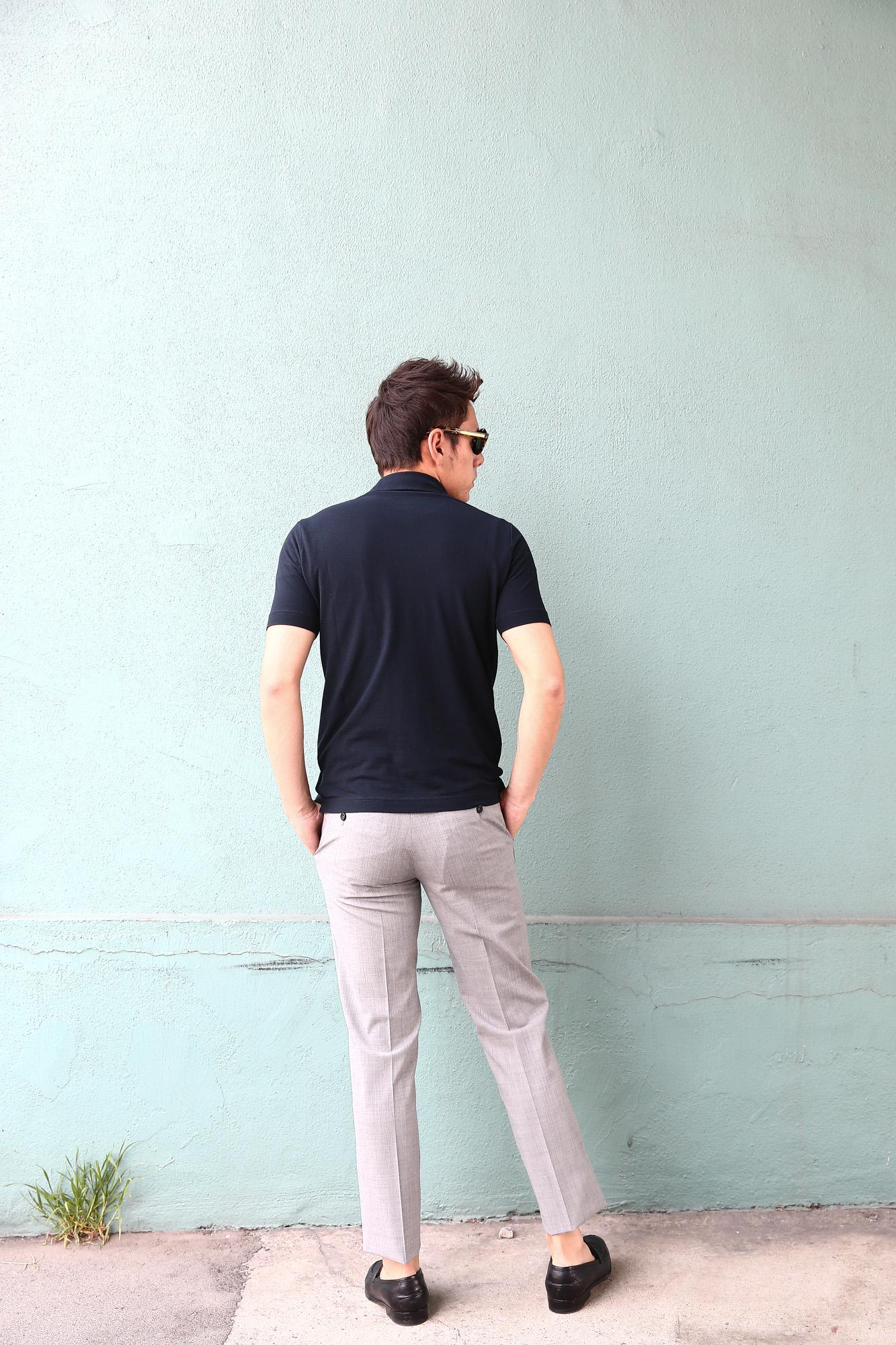 ZANONE (ザノーネ) Polo Shirt ice cotton アイスコットン ポロシャツ NAVY (ネイビー・Z0542) made in italy (イタリア製) 2018 春夏新作 愛知 名古屋 Alto e Diritto アルト エ デリット ポロ ニットポロ