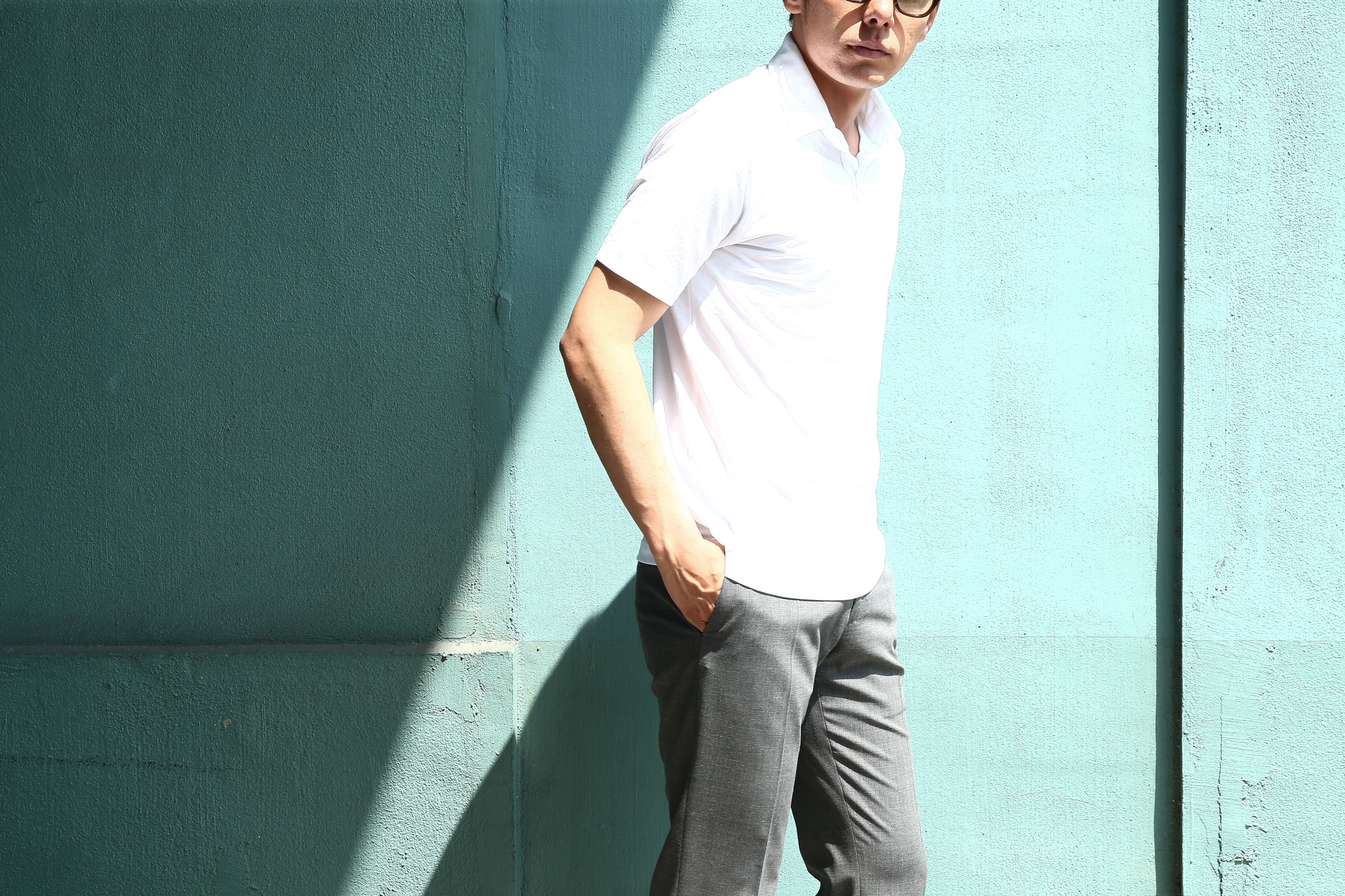 ZANONE (ザノーネ) Polo Shirt ice cotton アイスコットン ポロシャツ WHITE (ホワイト・Z0001) made in italy (イタリア製) 2018 春夏新作 愛知 名古屋 Alto e Diritto アルト エ デリット ポロ ニットポロ