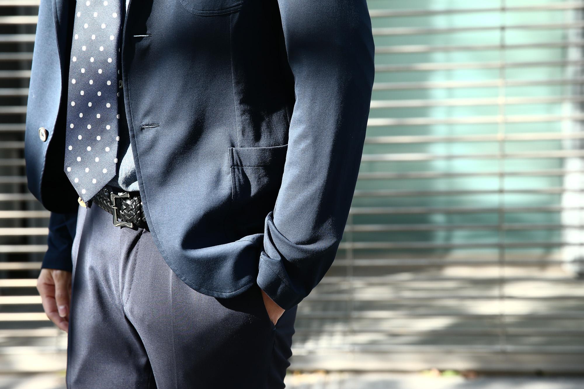 Cruciani(クルチアーニ) Cotton Jersey Jacket (コットンジャージージャケット) Micro Smooth Cotton マイクロスムースコットン ニット ジャケット NAVY (ネイビー・10973) made in italy (イタリア製) 2018 春夏新作 愛知 名古屋 ZODIAC ゾディアック cruciani クルチアーニ  44,46,48,50,52,54