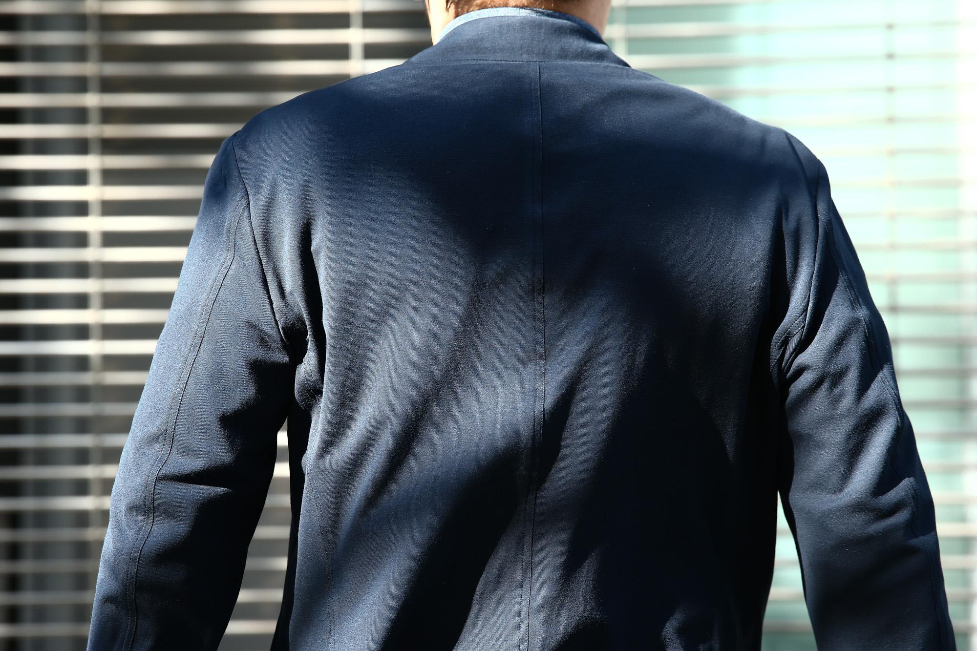 Cruciani(クルチアーニ) Cotton Jersey Jacket (コットンジャージージャケット) Micro Smooth Cotton マイクロスムースコットン ニット ジャケット NAVY (ネイビー・10973) made in italy (イタリア製) 2018 春夏新作 愛知 名古屋 Alto e Diritto アルト エ デリット cruciani クルチアーニ  44,46,48,50,52,54