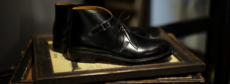 Cuervo (クエルボ) Derringer Cordovan(デリンジャー コードバン) Shell Cordovan シェルコードバンレザー Goodyear Welt Process  Double Leather Sole Chukka Boots チャッカブーツ  BLACK(ブラック・BLK) MADE IN JAPAN(日本製) 2018 春夏新作のイメージ