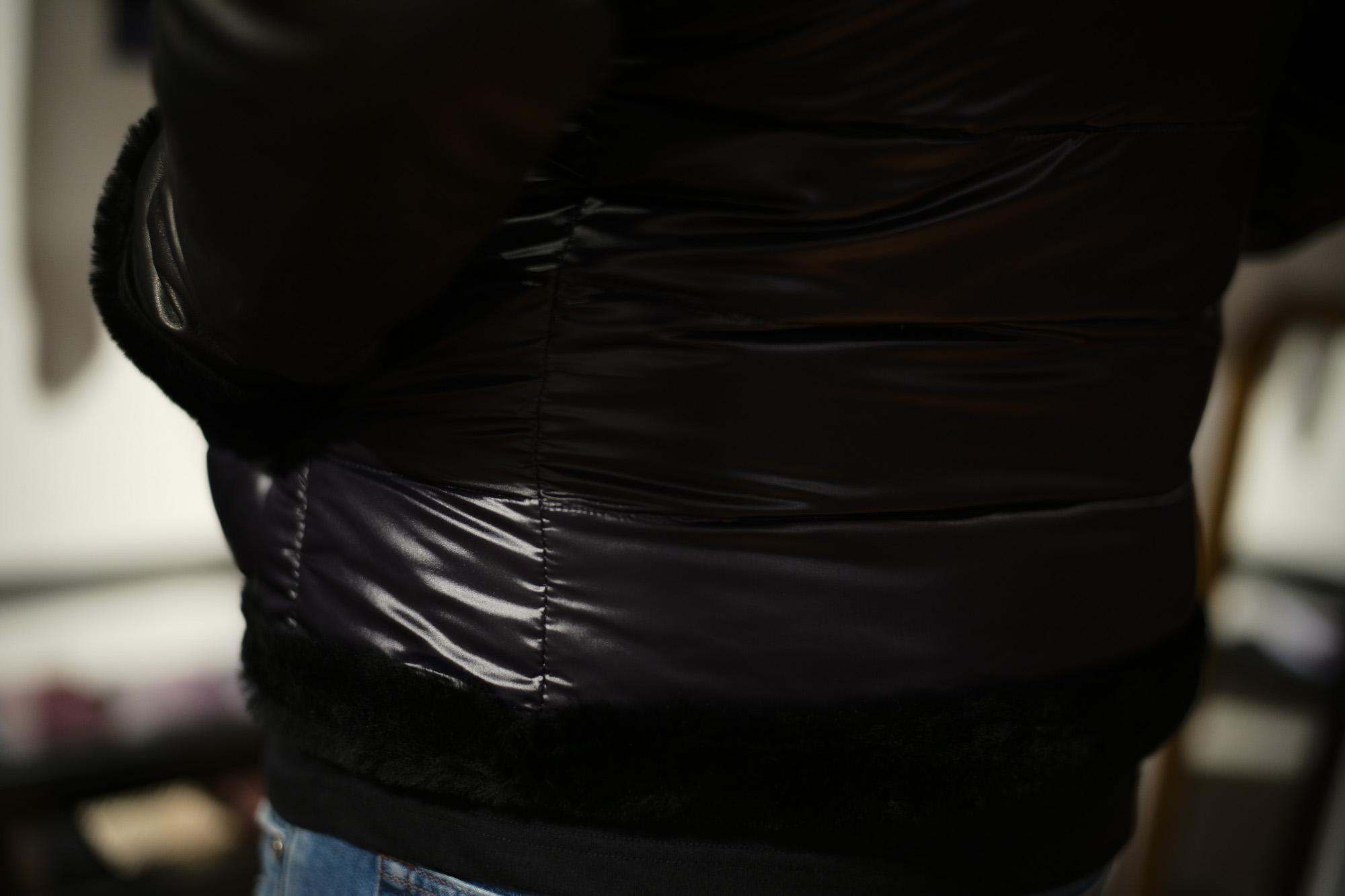 EMMETI (エンメティ) FERNANDO (フェルナンド) Lambskin Nappa Leather × Mouton × Nylon (ラムナッパレザー × ムートン × ナイロン) ムートンダウンジャケット NERO (ブラック・190/1) Made in italy (イタリア製) 2018 秋冬  emmeti ダウン ムートン レザー 愛知 名古屋 ZODIAC ゾディアック
