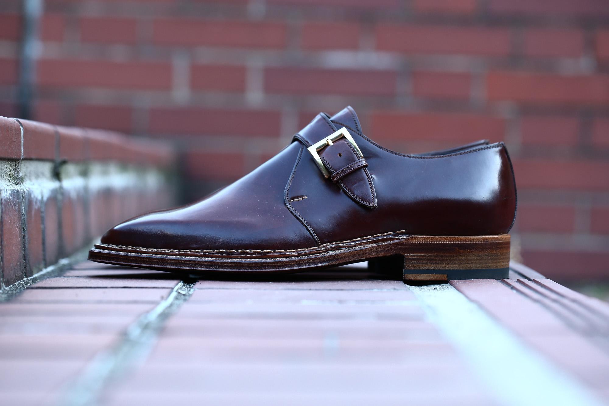 ENZO BONAFE (エンツォボナフェ) 【ART.3721】Single Monk Strap Shoes シングルモンクストラップシューズ CORDOVAN コードバン ノルベジェーゼ製法 ドレスシューズ No.4(#4) made in italy (イタリア製) 2018 春夏新作 愛知 名古屋 ZODIAC ゾディアック enzobonafe コードバン no4 ナンバーフォー