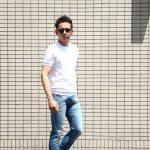 Gran Sasso (グランサッソ) Fresh Cotton T-shirt (フレッシュコットン Tシャツ) FRESH COTTON (フレッシュコットン) コットン ニット Tシャツ WHITE (ホワイト・002) made in italy (イタリア製) 2018 春夏新作のイメージ