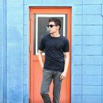 JOHN SMEDLEY (ジョンスメドレー) IMPERIAL KASHMIR (カシミアシリーズ) STONWELL (ストンウェル) CASHMERE × SEA ISLAND COTTON (カシミア × シーアイランドコットン) ショートスリーブ コットンカシミヤニット Tシャツ NAVY (ネイビー) Made in England (イギリス製) 2018 春夏新作のイメージ