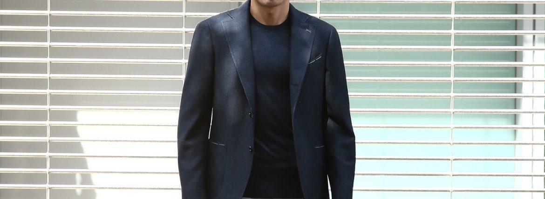 LARDINI (ラルディーニ) SARTORIA (サルトリア) ウールシルク ホップサック 段返り3B ジャケット NAVY (ネイビー・851) Made in italy (イタリア製) 2018 春夏新作のイメージ