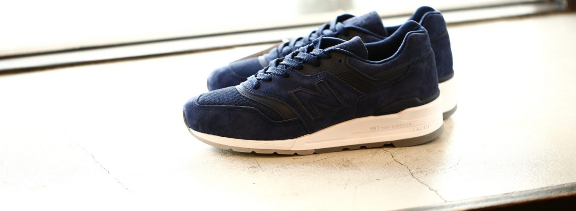 new balance (ニューバランス) M997 CO (CLASSICS TRADITIONNELS) LIMITED EDITION レザースニーカー NAVY (ネイビー・CO) Made in USA (アメリカ製) 2018 春夏新作のイメージ