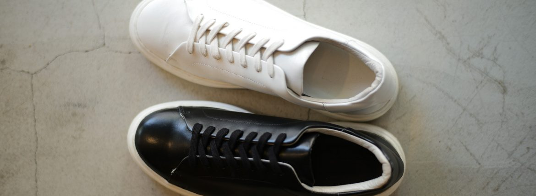 PATRICK(パトリック) CRUISE LINE クルーズライン GENOVA (ジェノバ) Annonay Vocalou Calf Leather (アノネイ社 ボカルーカーフ レザー) ローカット レザー スニーカー BLACK (ブラック・BLK) WHITE (ホワイト・WHT) MADE IN JAPAN(日本製) 【第2便ご予約受付中】【第3便ご予約受付中】【第4便ご予約受付中】 patrick パトリック cruiseline クルーズライン 愛知 名古屋 ZODIAC ゾディアック 干場義雅 坪内浩
