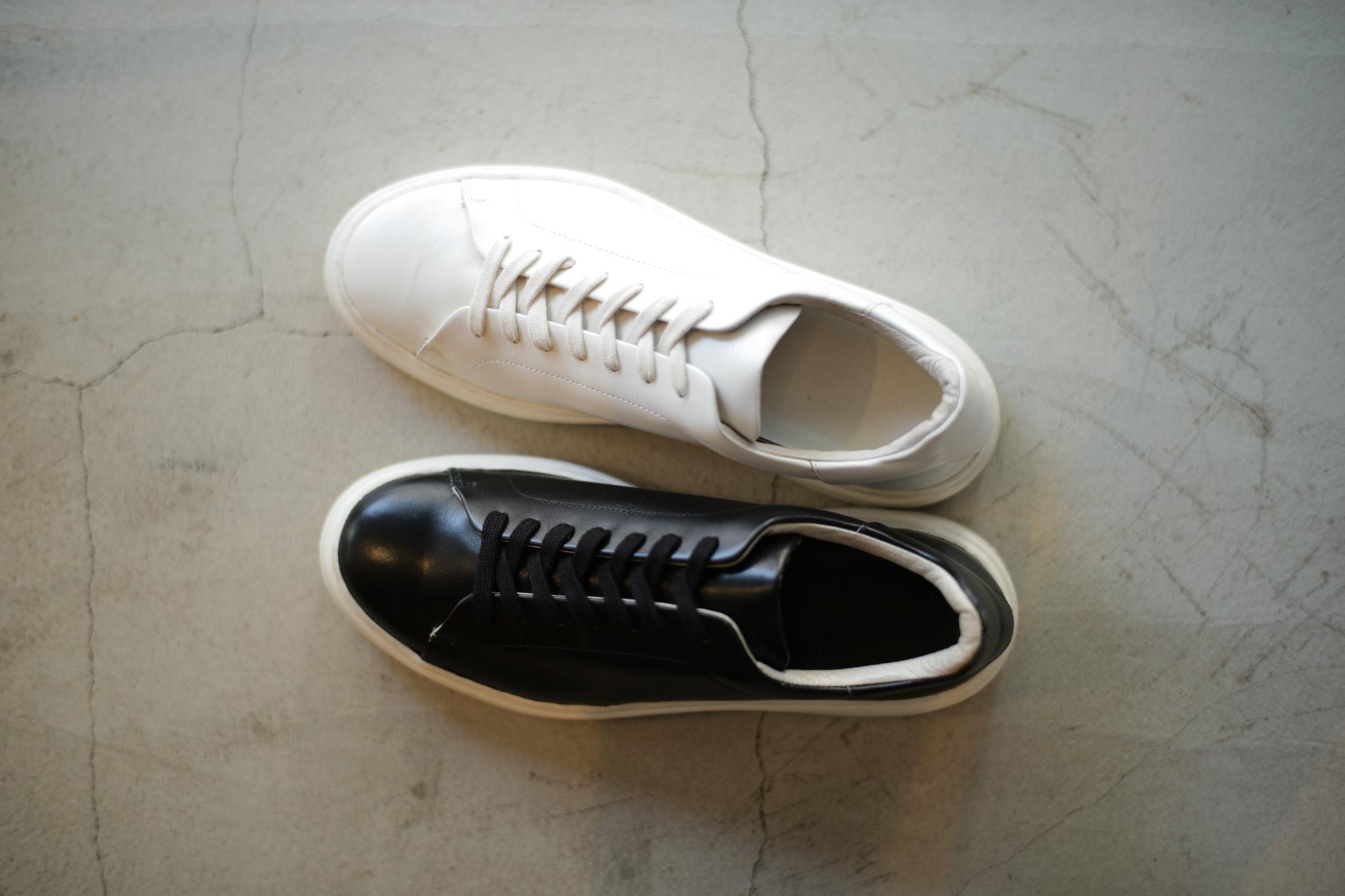 PATRICK(パトリック) CRUISE LINE クルーズライン GENOVA (ジェノバ) Annonay Vocalou Calf Leather (アノネイ社 ボカルーカーフ レザー) ローカット レザー スニーカー BLACK (ブラック・BLK) WHITE (ホワイト・WHT) MADE IN JAPAN(日本製) 【第2便ご予約受付中】【第3便ご予約受付中】【第4便ご予約受付中】 patrick パトリック cruiseline クルーズライン 愛知 名古屋 Alto e Diritto アルト エ デリット 干場義雅 坪内浩