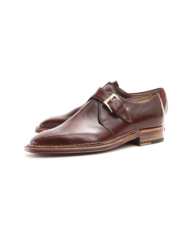 ENZO BONAFE (エンツォボナフェ) 【ART.3721】Single Monk Strap Shoes シングルモンクストラップシューズ CORDOVAN コードバン ノルベジェーゼ製法 ドレスシューズ No.4(#4) made in italy (イタリア製) 2018 春夏新作