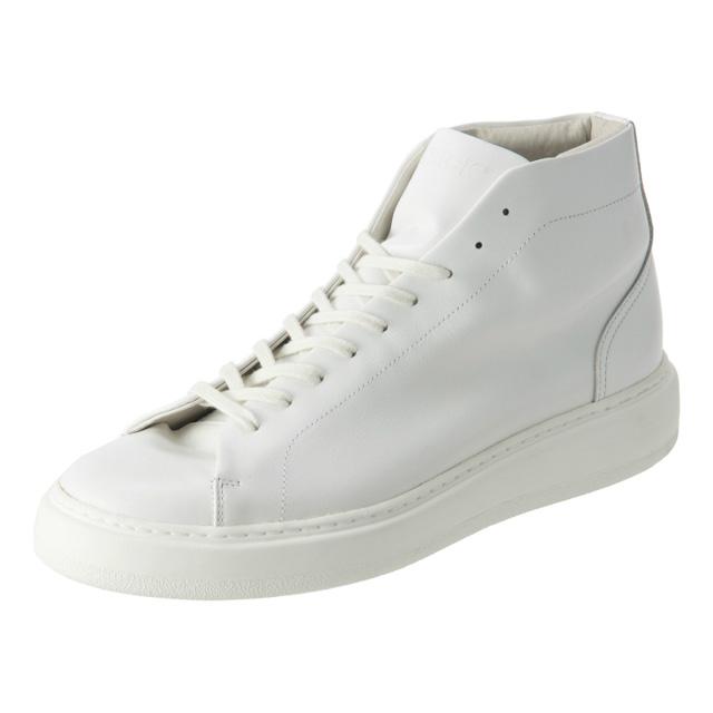 PATRICK(パトリック) CRUISE LINE クルーズライン GENOVA-HI (ジェノバ ハイ) Annonay Vocalou Calf Leather (アノネイ社 ボカルーカーフ レザー) ハイカット レザー スニーカー WHITE (ホワイト・WHT) MADE IN JAPAN(日本製) 【1st コレクション // 復刻モデル】【スペシャル限定モデル】【第1便第2便入荷しました】【フリー分販売開始】