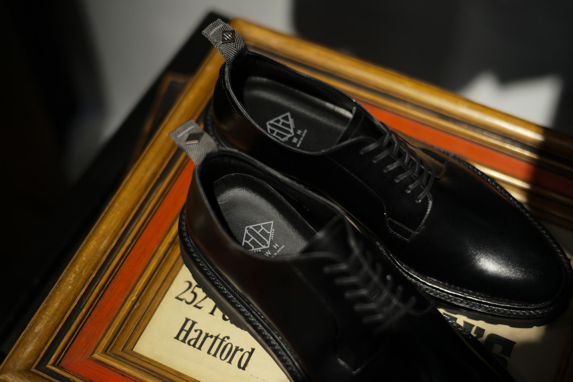 WH (ダブルエイチ) WH-0001(WHS-0001) Plane Toe Shoes (干場氏 スペシャル モデル) Cruise Last (クルーズラスト) ANNONAY Vocalou Calf Leather プレーントゥシューズ BLACK (ブラック) MADE IN JAPAN(日本製) 2018 春夏新作   【干場氏、坪内氏の直筆サイン入り】【Alto e Diritto限定 スペシャルアイテム】wh 干場さん 干場スペシャル FORZASTYLE フォルザスタイル 愛知 名古屋 Alto e Diritto アルト エ デリット