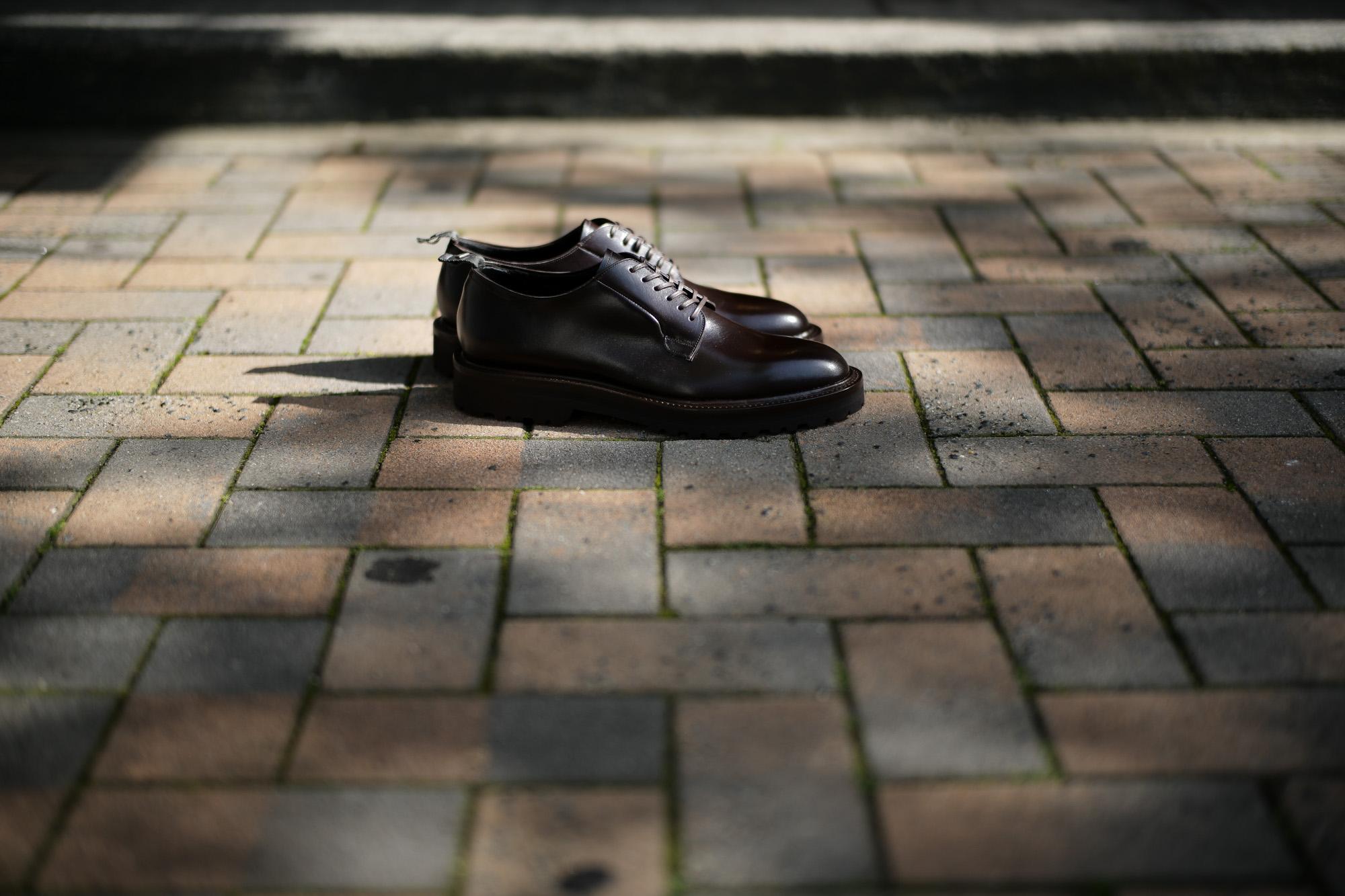 WH(ダブルエイチ) WH-0001(WHS-0001) Plane Toe Shoes (干場氏 スペシャル モデル) Cruise Last (クルーズラスト) ANNONAY Vocalou Calf Leather プレーントゥシューズ DARK BROWN (ダークブラウン) MADE IN JAPAN(日本製) 2018 春夏新作   【干場氏、坪内氏の直筆サイン入り】【Alto e Diritto限定 スペシャルアイテム】 wh 干場さん 干場スペシャル FORZASTYLE フォルザスタイル 愛知 名古屋 Alto e Diritto アルト エ デリット