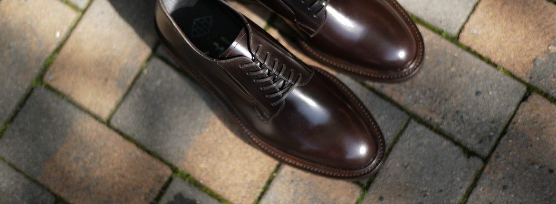 WH(ダブルエイチ) WH-0001(WHS-0001) Plane Toe Shoes (干場氏 スペシャル モデル) Cruise Last (クルーズラスト) ANNONAY Vocalou Calf Leather プレーントゥシューズ DARK BROWN (ダークブラウン) MADE IN JAPAN(日本製) 2018 春夏新作 【干場氏、坪内氏の直筆サイン入り】【ZODIAC限定 スペシャルアイテム】 wh 干場さん 干場スペシャル FORZASTYLE フォルザスタイル 愛知 名古屋 ZODIAC ゾディアック