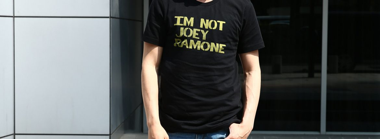 WORN FREE (ウォーンフリー) IM NOT JOEY RAMONE ジョーイ・ラモーン RAMONES ラモーンズ 1977 SAN DEIGO.CA プリントTシャツ バンドTシャツ ロックTシャツ BLACK (ブラック) MADE IN USA (アメリカ製) 2018 春夏新作のイメージ