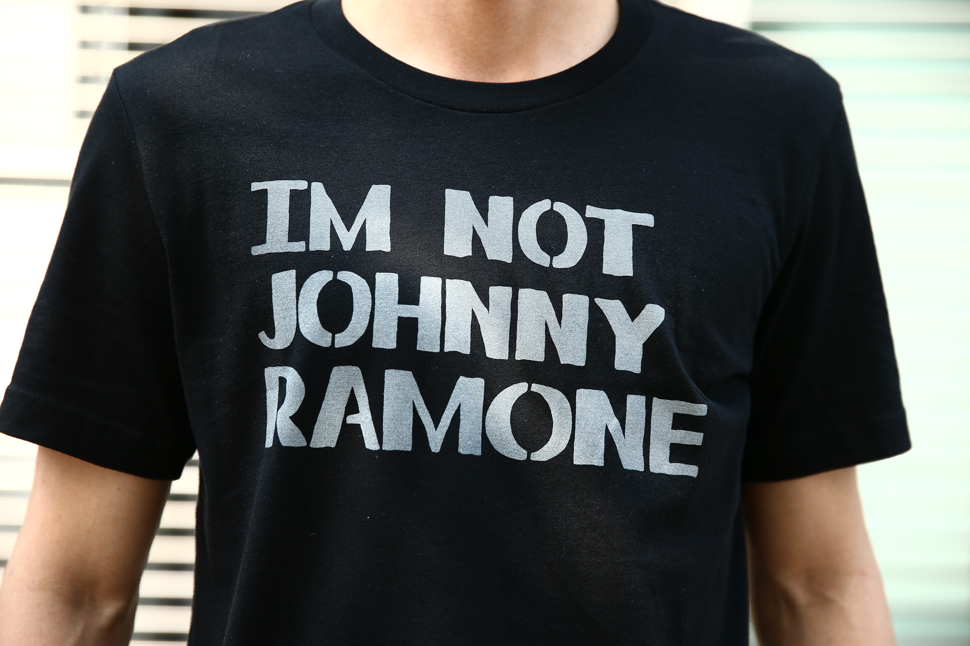 WORN FREE (ウォーンフリー) IM NOT JOHNNY RAMONE RAMONES (ジョニー・ラモーン ラモーンズ) 1977 THE WHISKY.LA プリントTシャツ バンドTシャツ ロックTシャツ BLACK (ブラック) MADE IN USA (アメリカ製) 2018春夏新作 wornfree ウォーンフリー 愛知 名古屋 ZODIAC ゾディアック ramones ラモーンズ bandtee rocktee