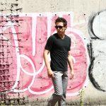 ZANONE (ザノーネ) V-neck T-shirt ice cotton(アイスコットン) 810237 Z0380 VネックTシャツ BLACK (ブラック・Z0015) MADE IN ITALY(イタリア製) 2018 春夏新作のイメージ
