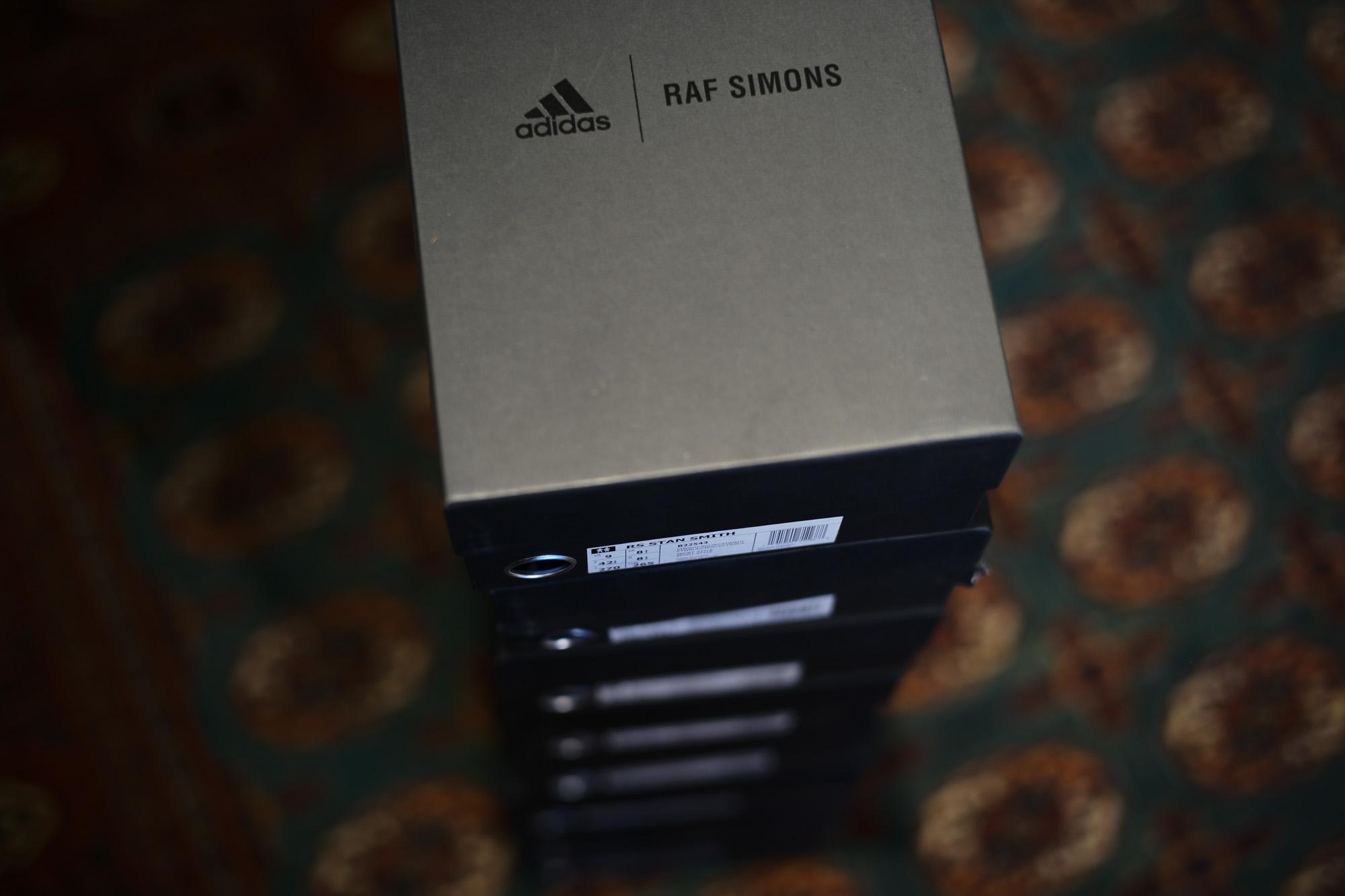 adidas by RAF SIMONS (アディダス バイ ラフシモンズ) RS STAN SMITH (RS スタンスミス) B22543 レザー スニーカー FTWWHT/NGTSKY/FTWWHT (ホワイト / ネイビー) 2018 春夏新作 adidas rafsimons ラフシモンズ 愛知 名古屋 Alto e Diritto アルト エ デリット alto e dritto アルトエデリット