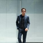 BOGLIOLI MILANO (ボリオリ ミラノ) K.JACKET (Kジャケット) ストレッチ コットン ツイル 3B スーツ NAVY (ネイビー・73) Made in italy (イタリア製) 2018 春夏新作のイメージ