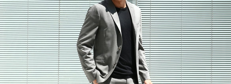 BOGLIOLI MILANO (ボリオリ ミラノ) K.JACKET (Kジャケット) ストレッチ サマーウール 3B スーツ GRAY (グレー・33) Made in italy (イタリア製) 2018 春夏新作のイメージ