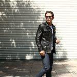 EMMETI (エンメティ) JAXON COCCODRILLO (ジャクソン コッコドリッロ) Lambskin Nappa Leather × Crocodile Leather ラムナッパレザー × クロコダイルレザー ジャケット NERO (ブラック・190/1) Made in italy (イタリア製) 2018 秋冬 【ご予約受け付け中】のイメージ