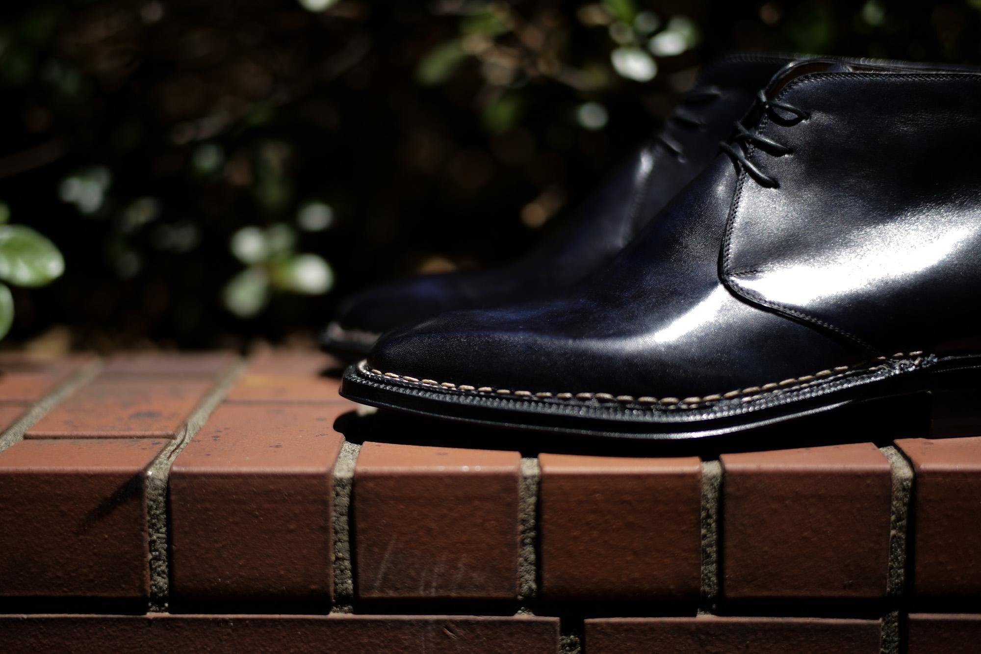 ENZO BONAFE (エンツォボナフェ) ART.3722 Chukka boots Bonaudo Museum Calf Leather ボナウド社 ミュージアムカーフレザー ノルベジェーゼ製法 レザーソール チャッカブーツ DEEP BLUE (ディープブルー) made in Italy(イタリア製) enzobonafe エンツォボナフェ チャッカブーツ ミュージアムカーフ チャッカブーツ 愛知 名古屋 Alto e Diritto アルト エ デリット alto e diritto アルトエデリット