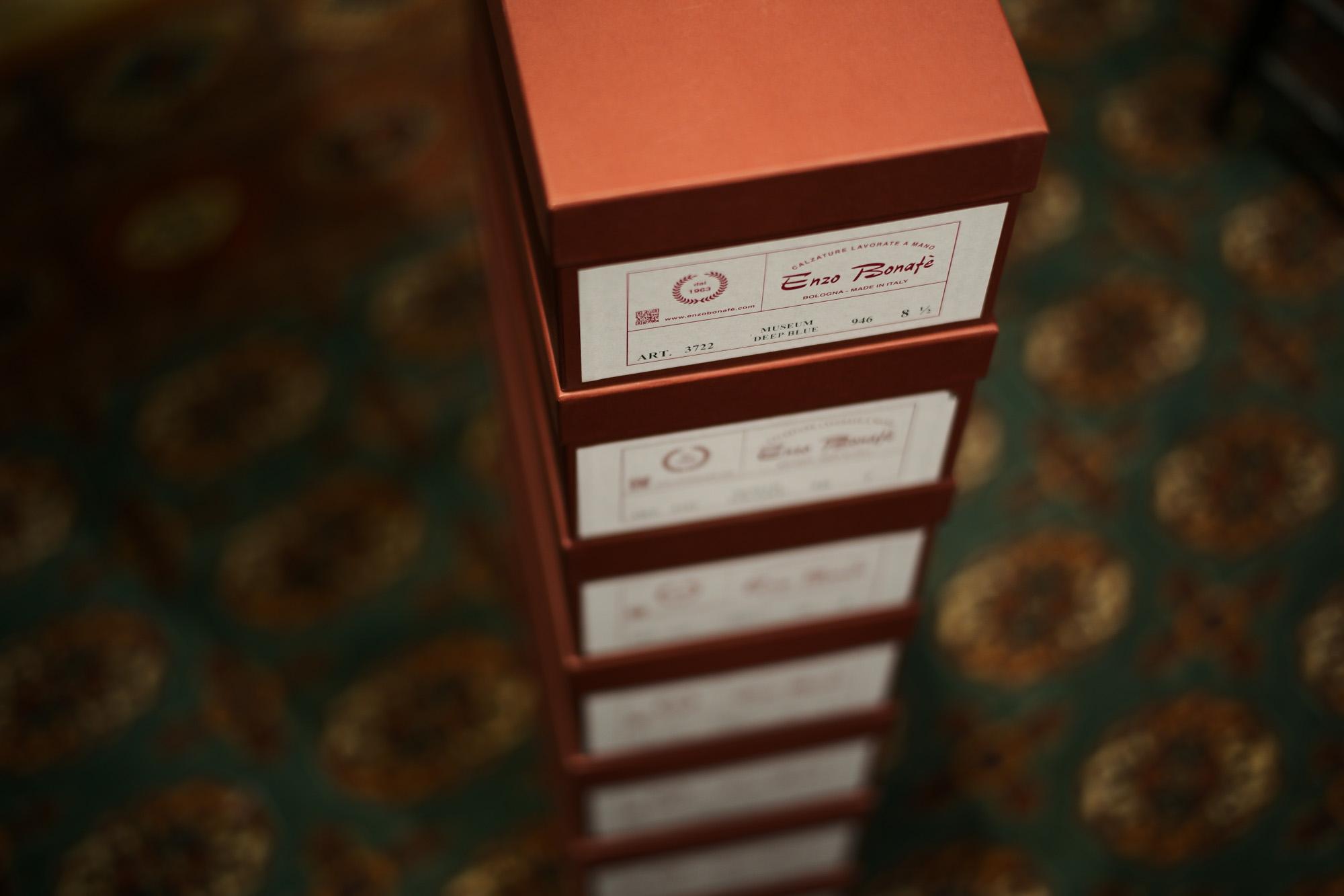 ENZO BONAFE (エンツォボナフェ) ART.3722 Chukka boots チャッカブーツ Bonaudo Museum Calf Leather ボナウド社 ミュージアムカーフレザー ノルベジェーゼ製法 レザーソール チャッカブーツ DEEP BLUE (ディープブルー) made in Italy(イタリア製) 2018 春夏新作 enzobonafe エンツォボナフェ チャッカブーツ ミュージアムカーフ