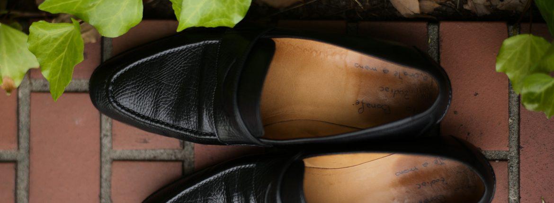 ENZO BONAFE(エンツォボナフェ) ART. EB-08 Coin Loafer コインローファー LAMA ラマレザー ドレスシューズ ローファー NERO(ブラック) made in italy (イタリア製) 2019 春夏のイメージ