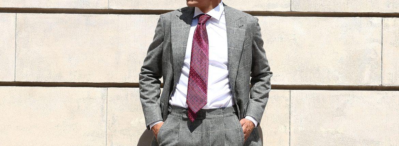 LARDINI (ラルディーニ) SARTORIA (サルトリア) フラノウール生地 ブリティッシュ グレンチェック スーツ GRAY (グレー・11) 2018 秋冬 【ご予約開始】のイメージ