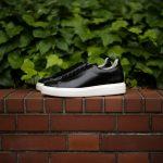 PATRICK(パトリック) CRUISE LINE クルーズライン GENOVA (ジェノバ) Annonay Vocalou Calf Leather (アノネイ社 ボカルーカーフ レザー) ローカット レザー スニーカー BLACK (ブラック・BLK) MADE IN JAPAN(日本製) 2018 春夏新作【7月下旬入荷分ご予約受付中】【8月下旬入荷分ご予約受付中】のイメージ