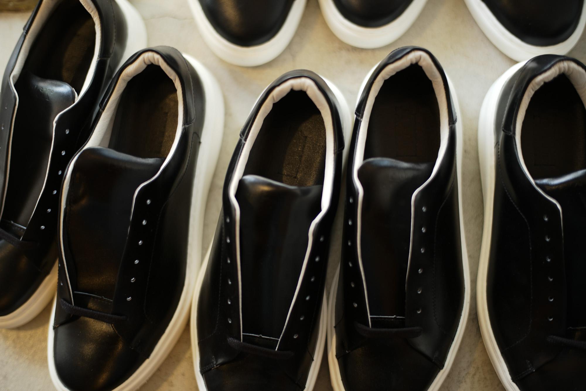 PATRICK(パトリック) CRUISE LINE クルーズライン GENOVA (ジェノバ) Annonay Vocalou Calf Leather (アノネイ社 ボカルーカーフ レザー) ローカット レザー スニーカー BLACK (ブラック・BLK) MADE IN JAPAN(日本製) 2018 春夏新作  【第1便入荷しました】【7月下旬入荷分ご予約受付中】【8月下旬入荷分ご予約受付中】 patrick パトリック cruiseline クルーズライン 愛知 名古屋 ZODIAC ゾディアック 干場義雅 坪内浩