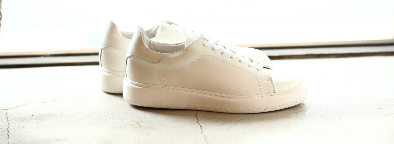 PATRICK(パトリック) CRUISE LINE クルーズライン GENOVA (ジェノバ) Annonay Vocalou Calf Leather (アノネイ社 ボカルーカーフ レザー) ローカット レザー スニーカー WHITE (ホワイト・WHT) MADE IN JAPAN(日本製) 2018 春夏新作【7月下旬入荷分ご予約受付中】【8月下旬入荷分ご予約受付中】のイメージ