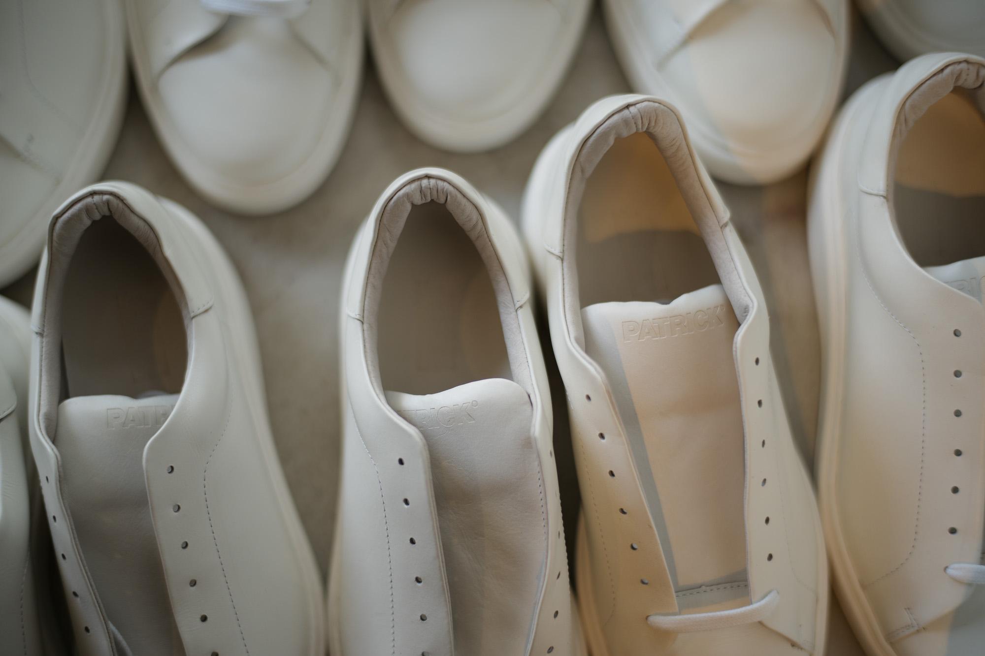 PATRICK(パトリック) CRUISE LINE クルーズライン GENOVA (ジェノバ) Annonay Vocalou Calf Leather (アノネイ社 ボカルーカーフ レザー) ローカット レザー スニーカー WHITE (ホワイト・WHT) MADE IN JAPAN(日本製) 2018 春夏新作 【第1便入荷しました】【7月下旬入荷分ご予約受付中】【8月下旬入荷分ご予約受付中】 patrick パトリック cruiseline クルーズライン 愛知 名古屋 ZODIAC ゾディアック 干場義雅 坪内浩