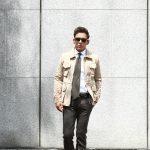 Radice(ラディーチェ) M-65 Suede Leather Jacket スエードラムナッパレザー ミリタリージャケット スエードレザージャケット GRIGIO (ベージュ) MADE IN ITALY (イタリア製)のイメージ
