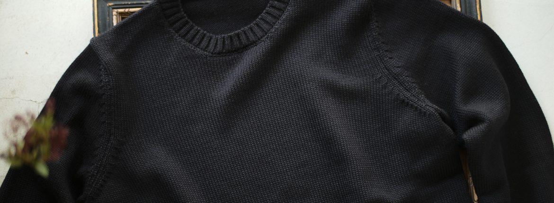 ZANONE (ザノーネ) Crew Neck Sweater (クルーネック セーター) VIRGIN WOOL 100% ミドルゲージ ウールニット セーター BLACK (ブラック・Z0015)  made in italy (イタリア製) 2018 秋冬新作のイメージ