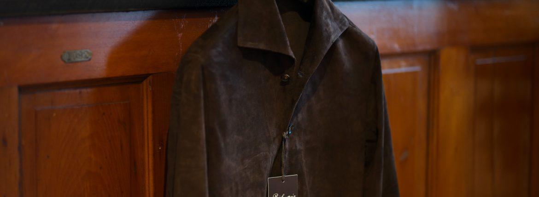 Alfredo Rifujio (アルフレード リフージオ) SS326 CAMOSCIO Summer Suede Leather Shirts サマースウェード レザーシャツ BROWN (ブラウン) made in italy (イタリア製) 2019 春夏のイメージ