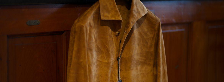 Alfredo Rifujio (アルフレード リフージオ) SS326 CAMOSCIO Summer Suede Leather Shirts サマースウェード レザーシャツ CAMEL (キャメル) made in italy (イタリア製) 2019 春夏のイメージ