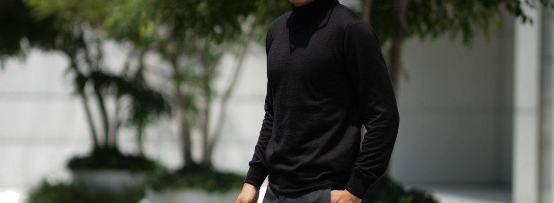 Cruciani (クルチアーニ) Silk Cashmere Turtle Neck Sweater (シルクカシミヤ タートルネック セーター) ハイゲージ シルクカシミヤニット セーター BLACK (ブラック・NERO) made in italy (イタリア製) 2018 秋冬新作のイメージ