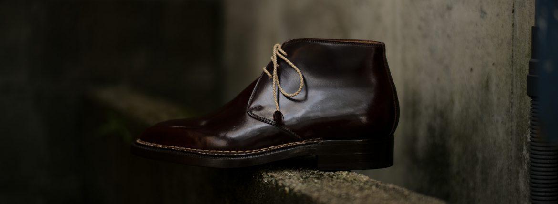 ENZO BONAFE(エンツォボナフェ) ART.3722 Chukka boots チャッカブーツ Horween Shell Cordovan Leather ホーウィン社 シェルコードバンレザー ノルベジェーゼ製法 チャッカブーツ コードバンブーツ No.8(バーガンディー) made in italy (イタリア製) 2019 春夏 愛知 名古屋 ZODIAC ゾディアック エンツォボナフェ コードバン チャッカ 5.5,6,6.5,7,7.5,8,8.5,9,9.5
