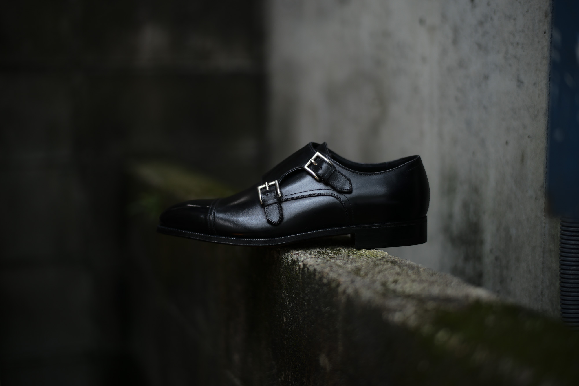 ENZO BONAFE (エンツォボナフェ) ART.EB-02 Double Monk Strap Shoes Horween Shell Cordovan Leather ホーウィン社シェルコードバンレザー ダブルモンクストラップシューズ NERO (ブラック) made in italy (イタリア製) 2019春夏 enzobonafe eb02 ダブルモンク コードバン 愛知 名古屋 Alto e Diritto アルト エ デリット alto e diritto altoediritto アルトエデリット