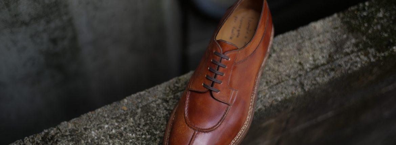 ENZO BONAFE(エンツォボナフェ) BERING ベーリング Bonaudo Museum Calf Leather(ボナウド社ミュージアムカーフレザー) ノルベジェーゼ製法 Uチップシューズ レザーシューズ NEW GOLD (ニューゴールド) made in italy(イタリア製) 2019 春夏のイメージ