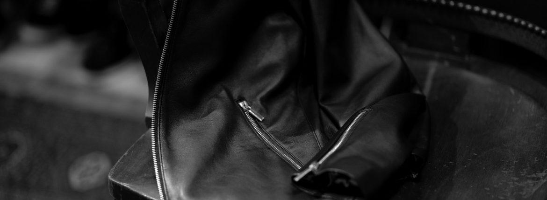 Georges de Patricia (ジョルジュ ド パトリシア) Carrera (カレラ) 925 STERLING SILVER (925 スターリングシルバー) Super Soft Sheepskin シングル ライダース ジャケット NOIR (ブラック) 2018 秋冬 【ご予約受付中】のイメージ