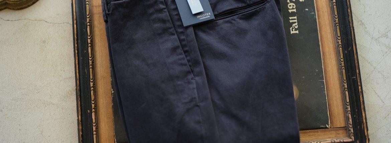 INCOTEX (インコテックス) 1AGW30 SLIM FIT GARMENT DYED COMFORT CHINO コットン ストレッチ スラックス NAVY (ネイビー・831) 2018 秋冬新作のイメージ