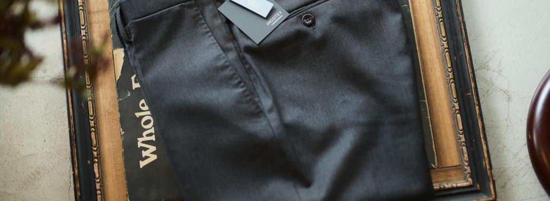INCOTEX (インコテックス) N35 SLIM FIT (1NT035) SUPER 100'S WOOLLEN TWILL サージウール スラックス CHARCOAL GRAY (チャコールグレー・930) 2018 秋冬新作のイメージ