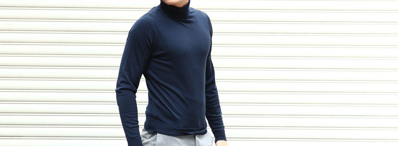 JOHN SMEDLEY (ジョンスメドレー) ORTA (オルタ) 30G Merino Wool (30ゲージメリノウール) タートルネックセーター MIDNIGHT (ミッドナイト) Made in England (イギリス製) 2018 秋冬のイメージ
