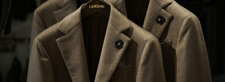 LARDINI (ラルディーニ) Cashmere Spolverino Chester coat (カシミヤ スポルベリーノ チェスターコート) カシミヤフラノ生地 シングル チェスターコート BEIGE (ベージュ・1) Made in italy (イタリア製) 2018 秋冬新作のイメージ