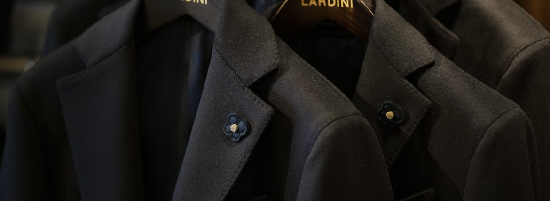 LARDINI (ラルディーニ) Spolverino Chester coat (スポルベリーノ チェスターコート) フラノウール生地 シングル チェスターコート NAVY (ネイビー・5) Made in italy (イタリア製) 2018 秋冬新作のイメージ