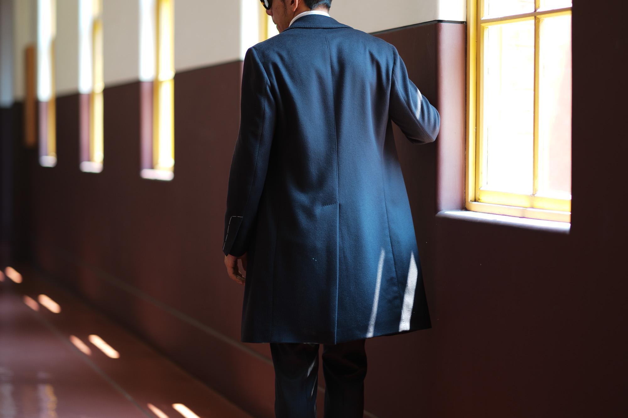 LARDINI (ラルディーニ) Spolverino Chester coat (スポルベリーノ チェスターコート) フラノウール生地 シングル チェスターコート NAVY (ネイビー・5) Made in italy (イタリア製) 2018 秋冬新作 lardini 愛知 名古屋 Alto e Diritto アルト エ デリット alto e diritto アルトエデリット コート