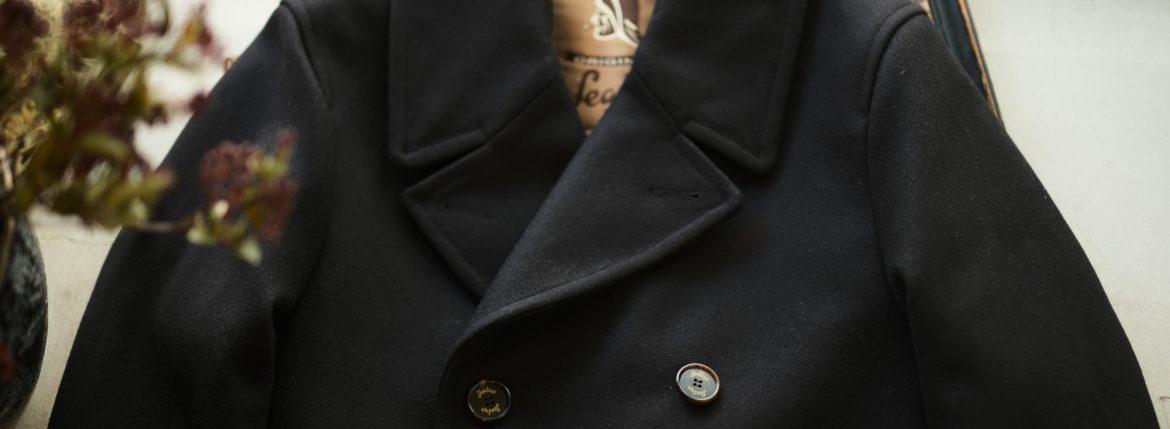 Sealup(シーラップ) GENOVA(ジェノバ) 50002 7591 01 メルトンウール サーモアライニング ロングPコート Pコート ロングピーコート BLACK(ブラック・36)  MADE IN ITALY(イタリア製) 2018 秋冬 【ご予約受付中】のイメージ