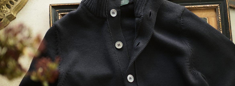 ZANONE (ザノーネ) CHIOTO KYOTO (キョウト キョート) 810740 z0229 (ミドルゲージ ニット ジャケット) NAVY (ネイビー・Z1375) MADE IN ITALY(イタリア製) 2018 秋冬新作のイメージ
